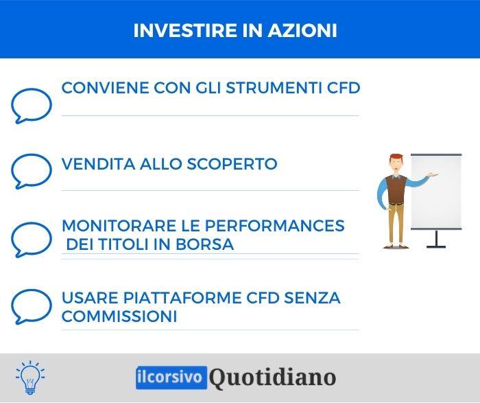Investire in azioni infografica